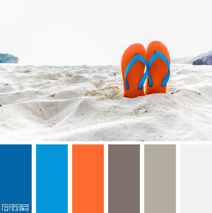 Color Palette: Blue, Orange and Sand. If you like our color inspiration, sign up for our monthly trend letter - http://patternpod.us4.list-manage.com/subscribe?u=524b0f0b9b67105d05d0db16a&id=f8d394f1bb