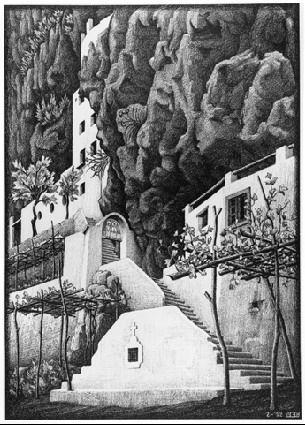 San Cosimo, Ravello - M.C. Escher, c.1932, 194/469.