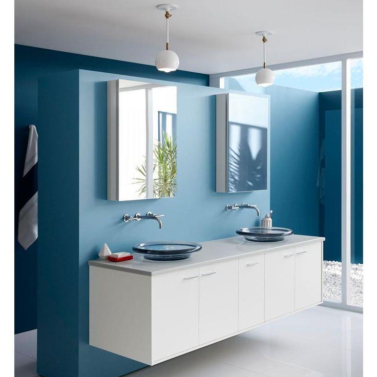 KOHLER Spun Glass Vessel Sink in Translucent Dusk