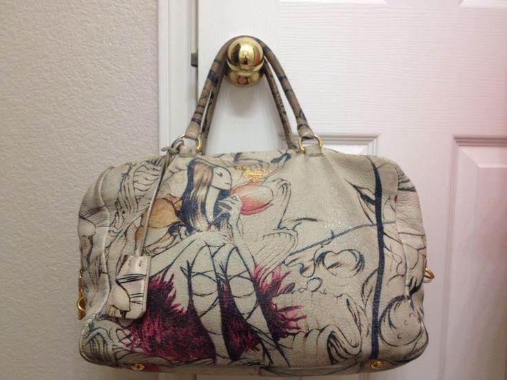 ... hot prada ltd edition cervo lux fairy bag purse in prugna beige . f8a97  8bd6b ccb792a9ab917