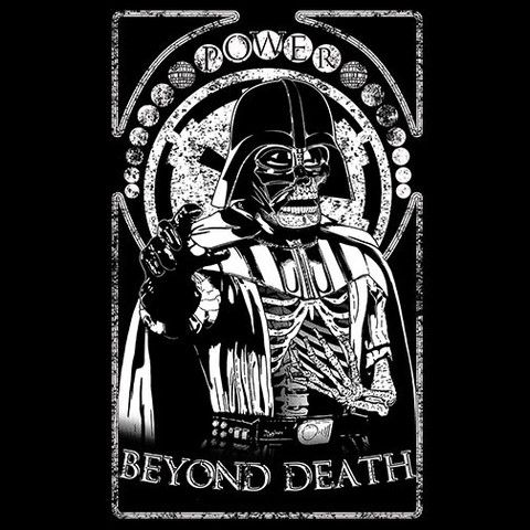 Power corrupts Beyond Death. Now available on Pop Up Tee http://popuptee.com/products/beyond-death-j-c-maziu?variant=10729448833 #vader #power #dark