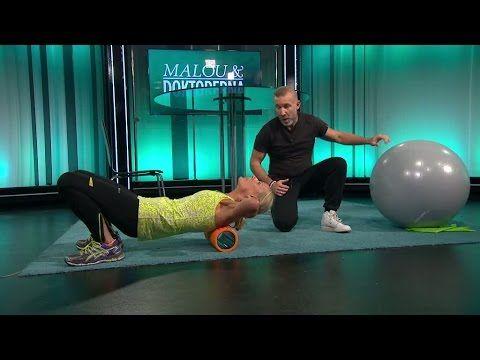 Fler övningar för att bli av med gamnacke - Malou Efter tio (TV4) - YouTube