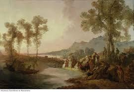 Towarzystwo na wycieczce nad jeziorem, Norblin, 2 poł XVIII
