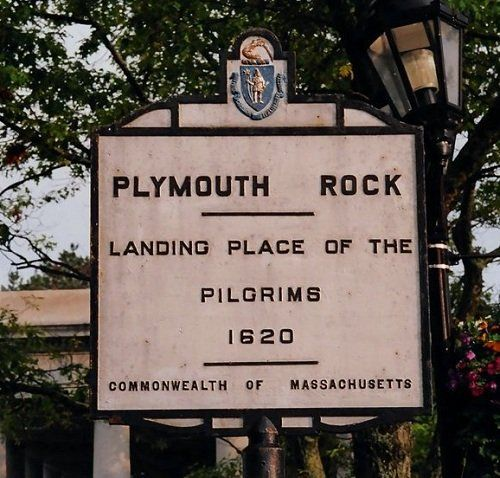 Plymouth Rock - it's a really big rock...and a beautiful, quiet little town