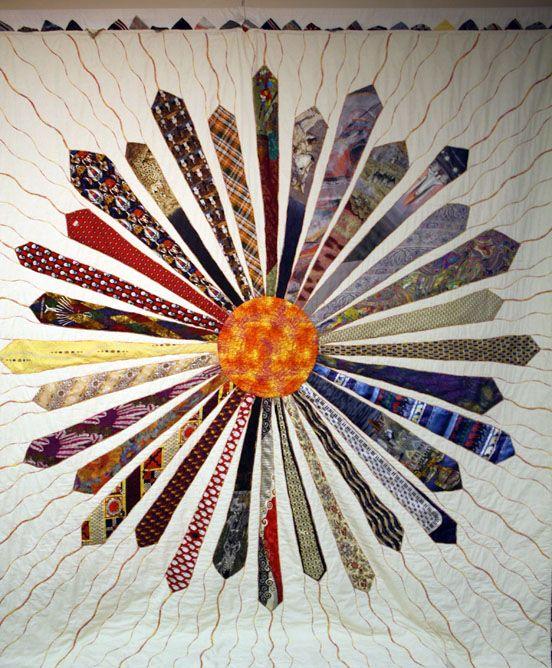 necktie quilt. Via 25.media.tumblr.c...