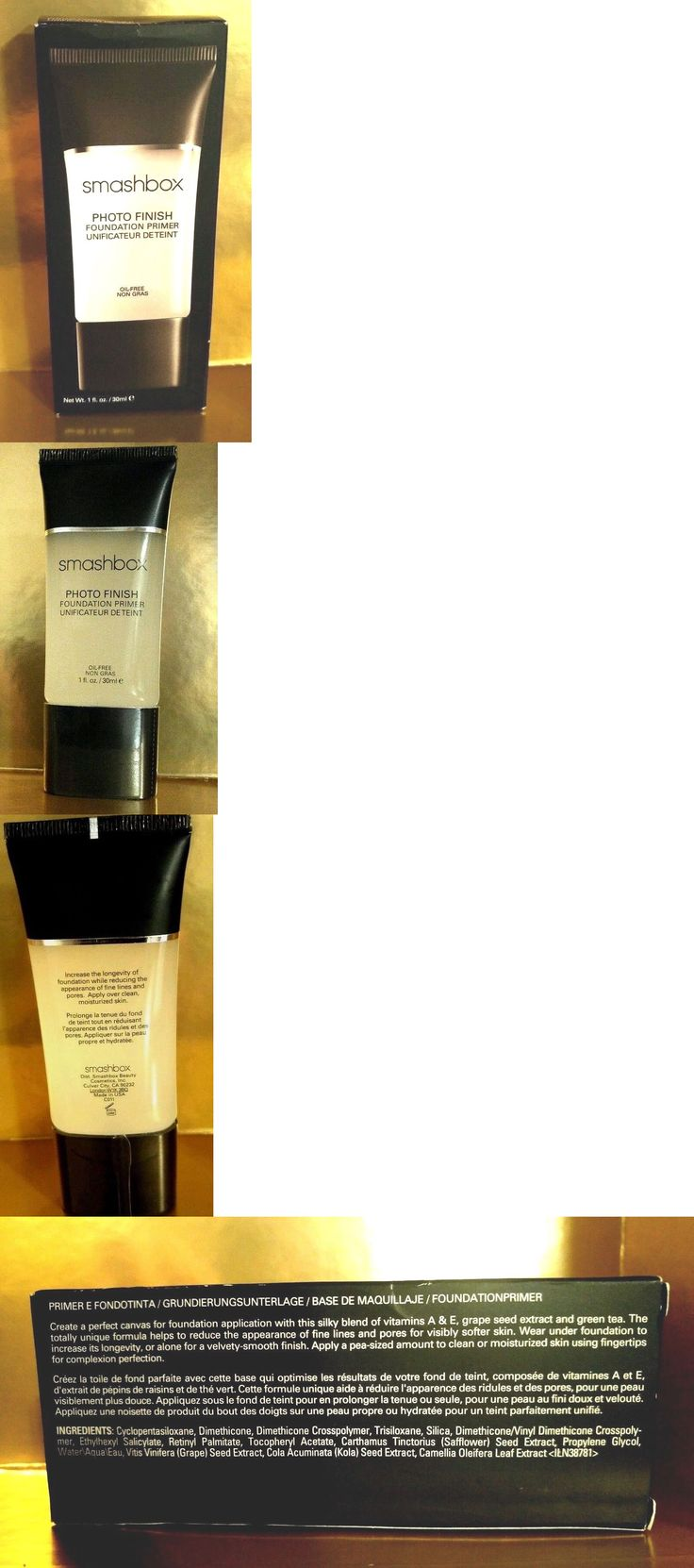 Foundation Primer: Smashbox Photo Finish Foundation Primer Oil Free 1Oz/30Ml New In Box BUY IT NOW ONLY: $30.0