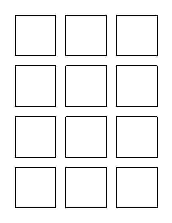2 inch square pattern. Use the printable outline for crafts, creating stencils, scrapbooking ...