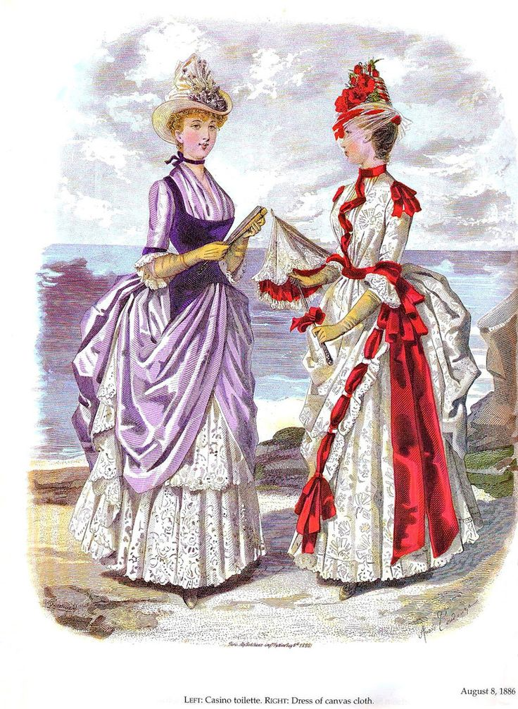 Illustration of a fashion magazine 1886. La Mode illustrèe 1886. Discussion on LiveInternet - Russian Service Online Diaries