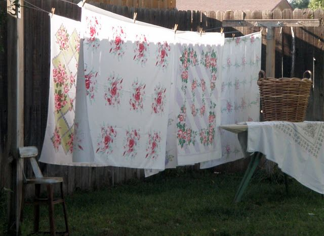 I think of these tablecloths as Summer prints, and only use them in the growing season.Spring, summer, and a bit in fall.           ...