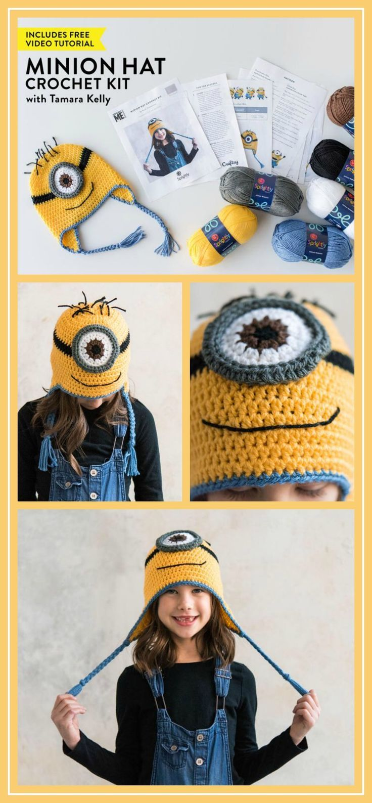 Minion Hat Crochet Kit Despicable Me Minion Crochet Hat Pattern