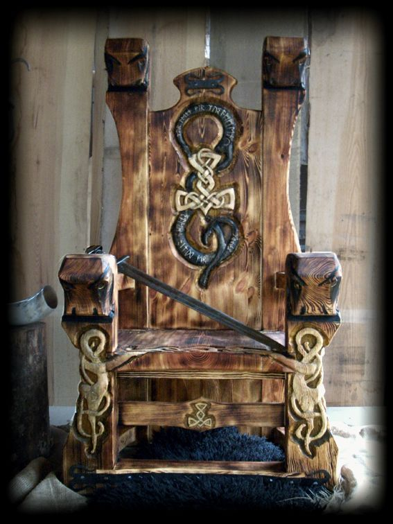 Viking throne... I need one of these!