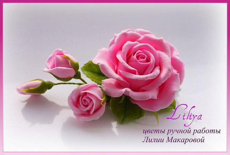 Купить Зажим с розовой розой - заколка для волос, зажим с цветком, заколка с…