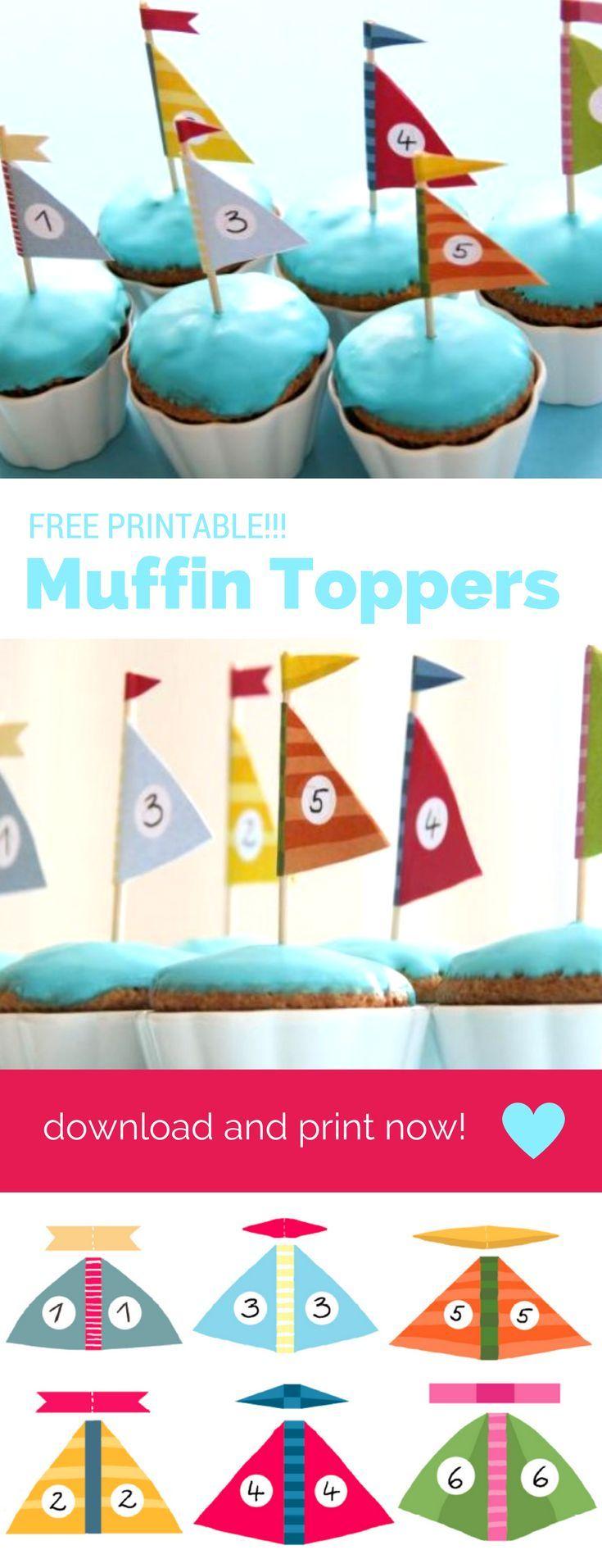 Kindergeburtstag Piraten - DIE Idee für Tischdeko. Das Printable für die Segelboot Muffin Toppers ist kostenlos und ihr findet es hier: http://www.meinesvenja.de/2011/08/10/segelboot-muffins/