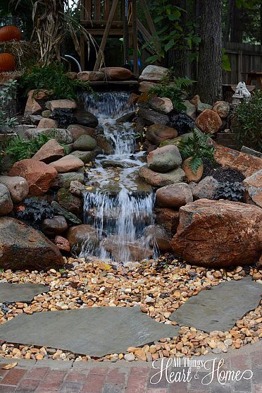 Pond-less waterfall...great idea! ***Repinned by Normoe, the Backyard Guy (#1 backyardguy on Earth) Follow us on; http://twitter.com/backyardguy