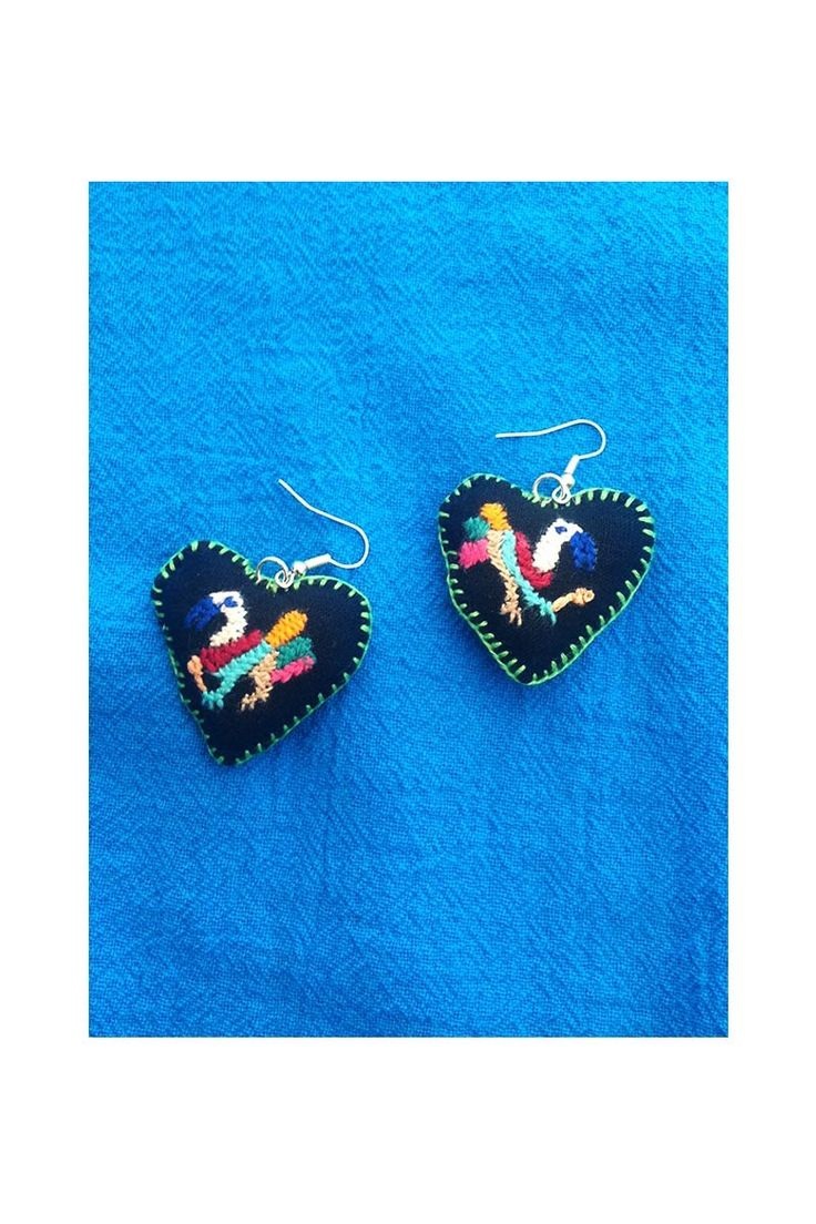Otomi Embroidered Mexican Earrings | $21 |