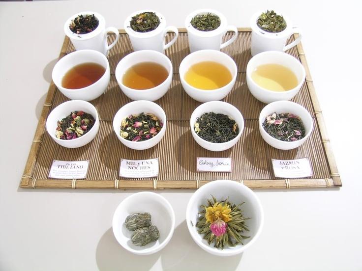 Cata de tés florales y flores de té. Primavera 2012