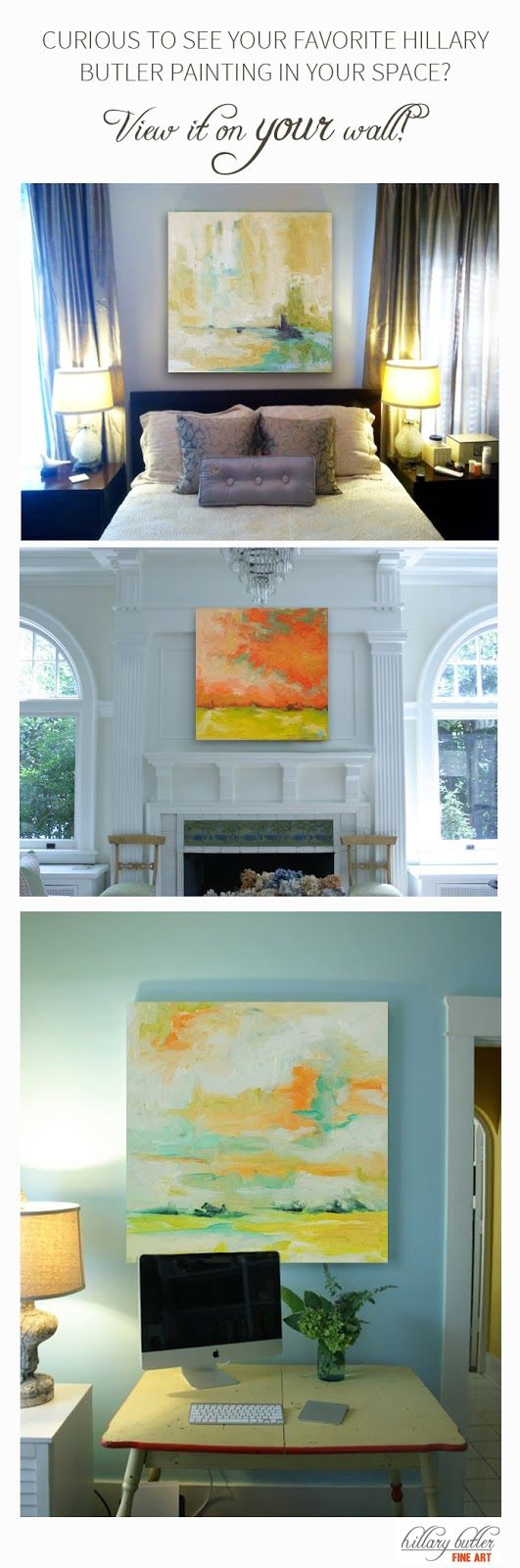 Choosing art for your home - Click Here To See Your Favorite Painting On Your Wall Take Out The Guess Work
