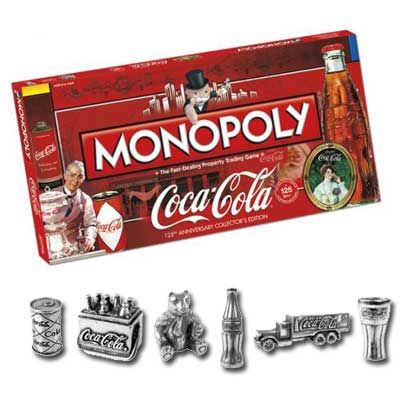 Coca-Cola Monopoly 125th Anniversary Collector's Edition  Wow!  I want this! www.esty.com/shop/heartchicago