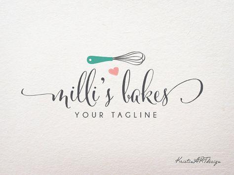Logo de la panadería diseño escrito a mano filigrana