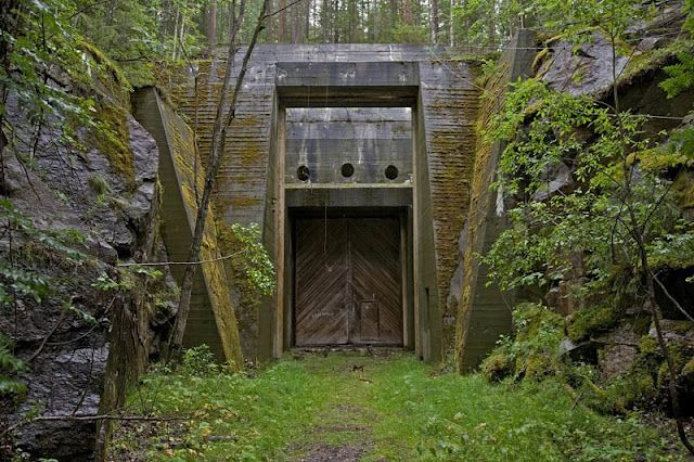 "Sweden is home to more than fifty underground bunker substations built during World War II. Concealing powerful generators, bomb-proof, cooled by underground rivers, these structures still look like they can survive anything ""Half-Life"""