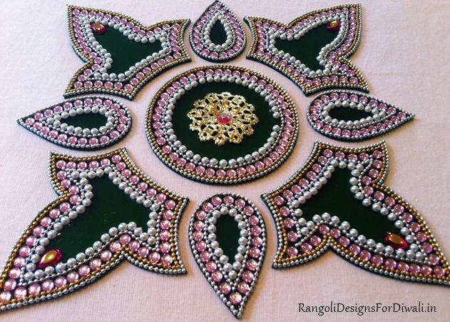 17 best images about kundan rangoli on pinterest for Aarti thali decoration with kundan
