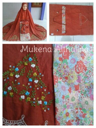 Mukena bordir khas tasikmalaya, bahan atas katun paris, bahan bawah katun jepang Price IDR 240.000 For more detail information, please visit our store mukena althalina @ tokopedia.. ^^