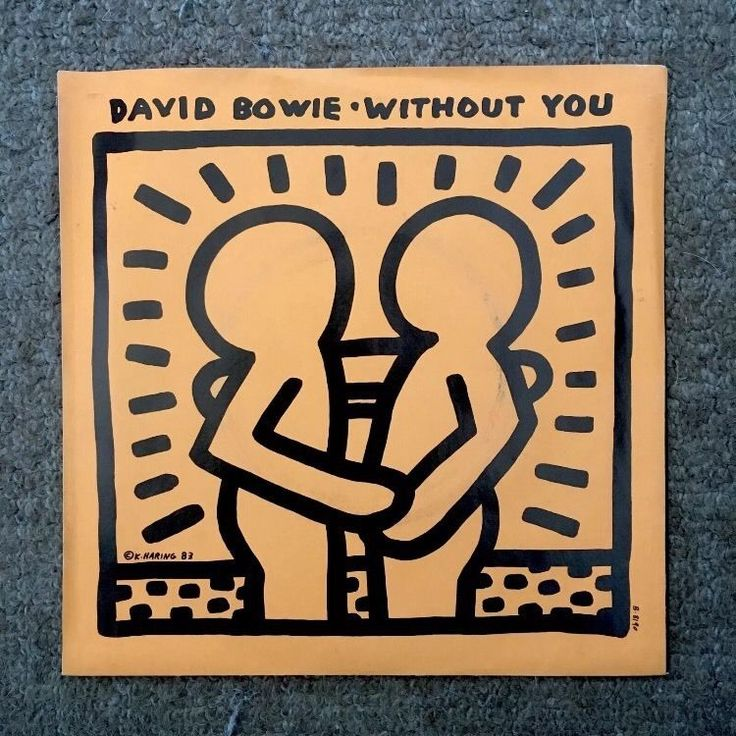 """David Bowie 'Without You' 7"""" w. Keith Haring Cover (NM, Artwork, Ziggy Stardust)"""