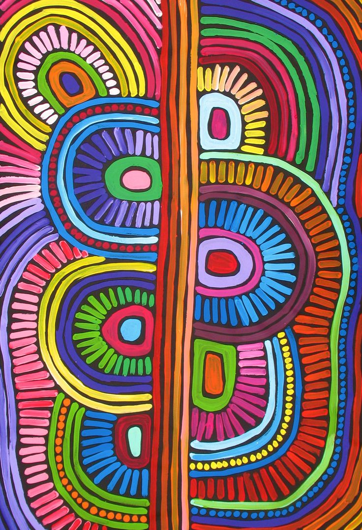 Aboriginal Artwork by Raelene Stevens. Sold through Coolabah Art on eBay. Cataogue ID 15228