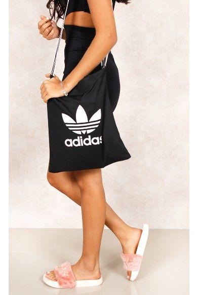 Bolsa Adidas Shopper Classic Tricot Preto Fashion Classic - fashioncloset #fashioncloset #adidas #rihnna #puma #dress #vestido