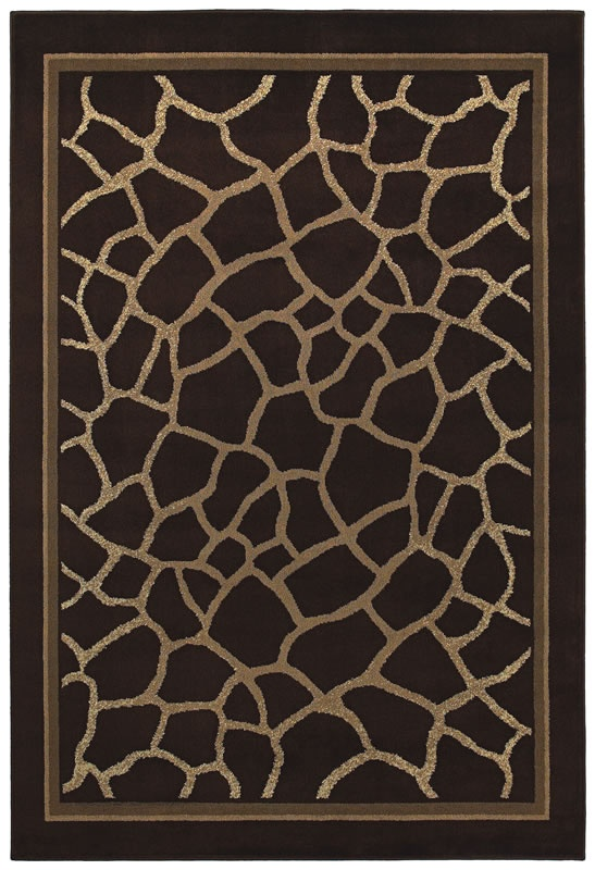 Concepts Collection Contemporary Brown And Beige Giraffe With Border   Shaw  Rugs | Rugs By SelectRugs