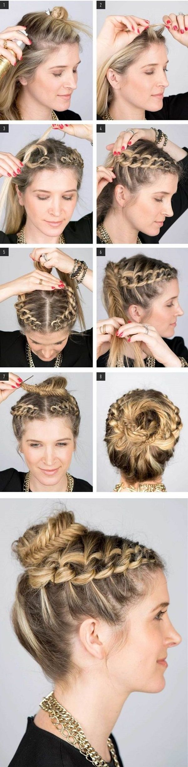 Hairstyles Step By Step step by step different style braids tutorials Top 25 Best Step By Step Hairstyles Ideas On Pinterest Simple Hair Updos Easy Hairstyle And Simple Hairstyles