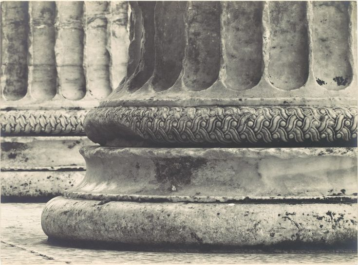 [Base of Ionic Column, North Porch of the Erechtheion, the Acropolis, Athens]  by Walter Hege  (German, 1893–1985)