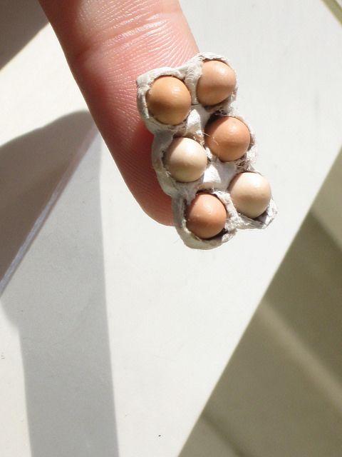 Dollhouse Eggs, Miniature Eggs in an egg box   Flickr - Photo Sharing!