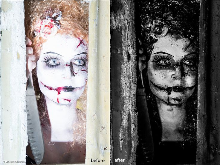 https://flic.kr/p/Dc6Zfw | Edit of over exposed image Zombie Clown
