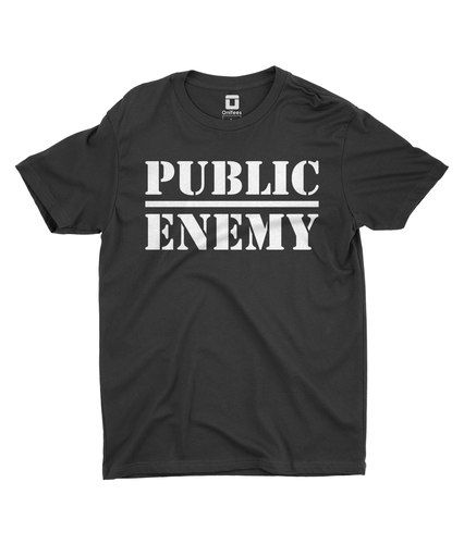 Public Enemy Black T-Shirt by OniTees