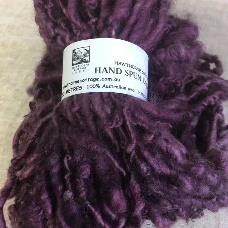 Dusky Purple English Leicester  Handspun Chunky Yarn by hawthornecottage on Etsy