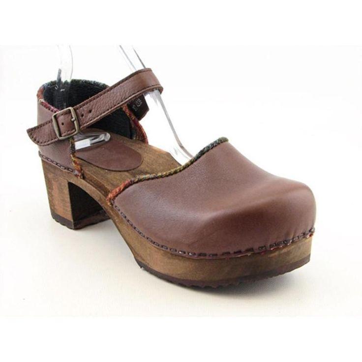 Sanita Gerda Womens Platforms Leather Clogs Shoes