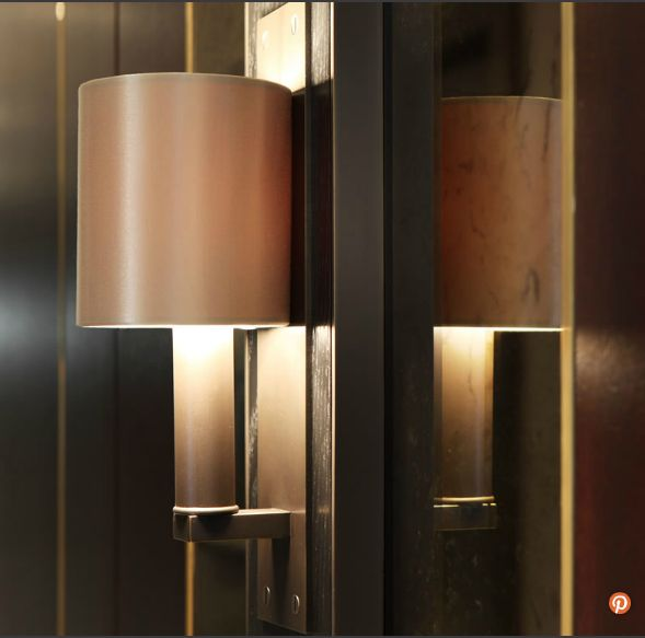Lighting - wall lights bronze brass