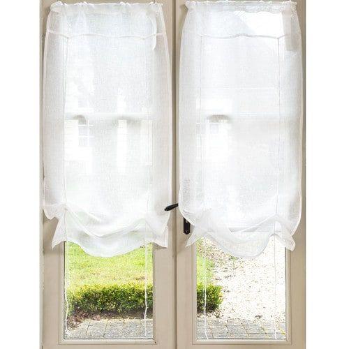 cortina corta de nudos de lino crudo x cm marquise