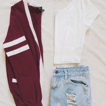 Love the varsity jacket inspired cardigan!