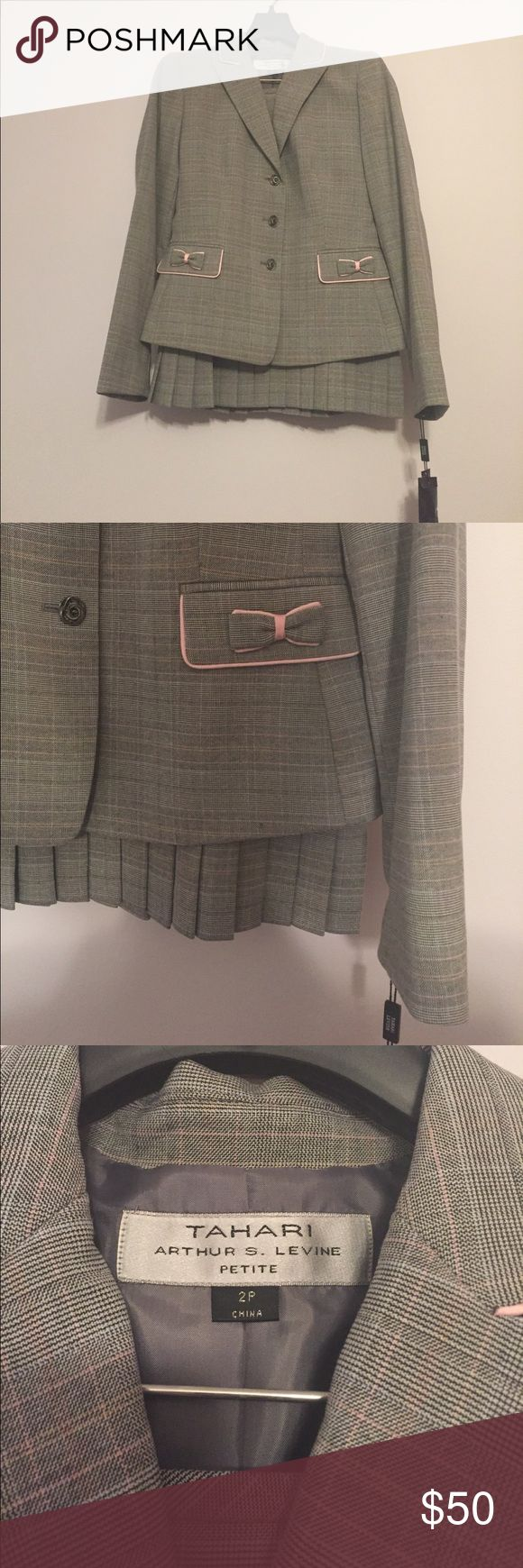 TAHARI PETITE two piece suit Never worn, NWT!!! Super cute now details. Also Great for pageant interviews like NAM! Tahari Other