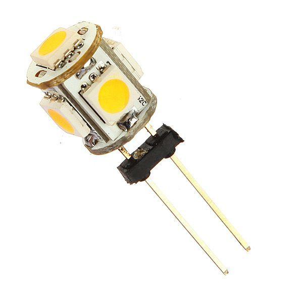 X, Car G4 5 LED SMD 5050 Warm White light Bulb Lamp DC 12V