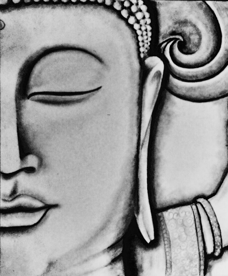 Drawing pencil Buddha