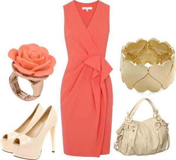 Coral dress - Best 25+ Coral Dress Accessories Ideas On Pinterest Coral Dress