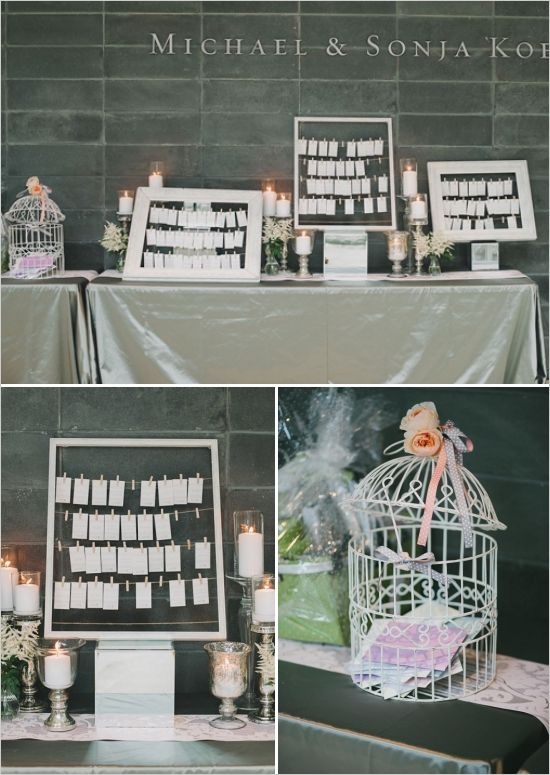 escort card ideas - would be inexpensive and pretty! and if you need a wedding officiant call me at (310) 882-5039 https://OfficiantGuy.com