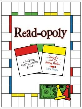 Read-Opoly! A fun game that gets students talking about books that they have read! This would be a great literacy center or a book report alternative.