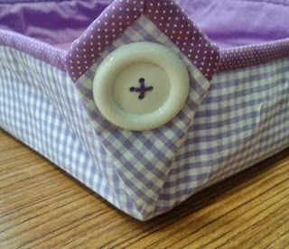 d'incanto: cestas de tecido em formato quadrado, tamanho grande