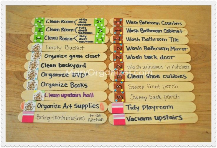 Chore Sticks: A Child-Friendly Approach To Chores... I like this idea especially for small children.