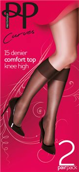 Pretty Polly Xxtra rang kniekousje 2 pp.  For women with more!