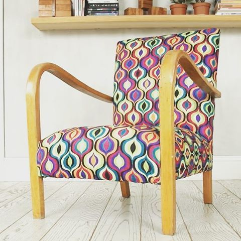 New upholstery for old chair